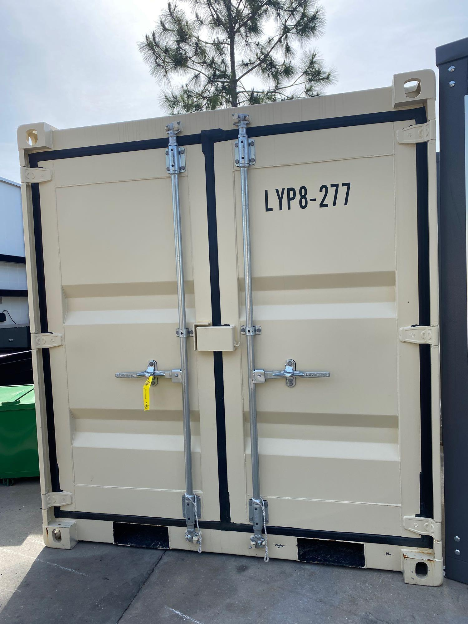 """UNUSED PORTABLE OFFICE/STORAGE CONTAINER WITH WINDOW AND SIDE DOOR, APPROX 77""""w 84""""t 98"""" deep - Image 2 of 6"""