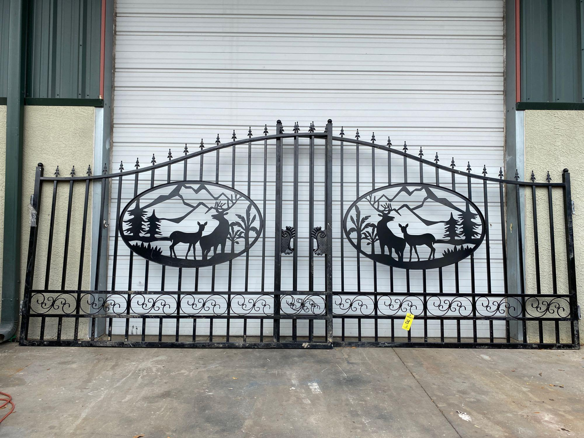 "NEW 20' BI-PARTING GATES, 10' EACH GATE, 90"" MAX HEIGHT"