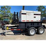 WHISPERWATT DCA-25USI TRAILER MOUNTED DIESEL GENERATOR, 20KW, 25 KVA, RUNS AND OPERATES