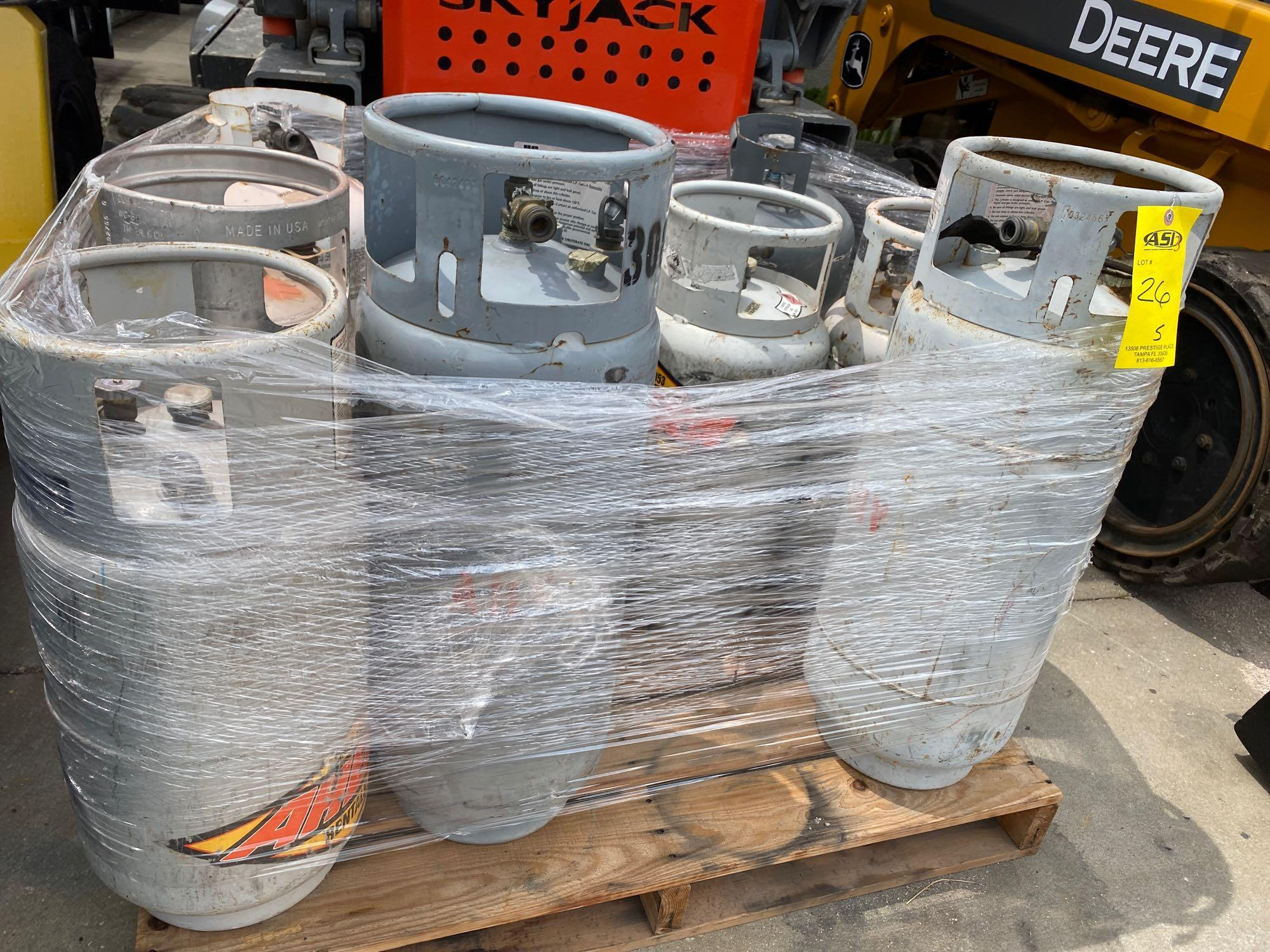 PALLET OF PROPANE TANKS, ALUMINUM AND STEEL - Image 5 of 5