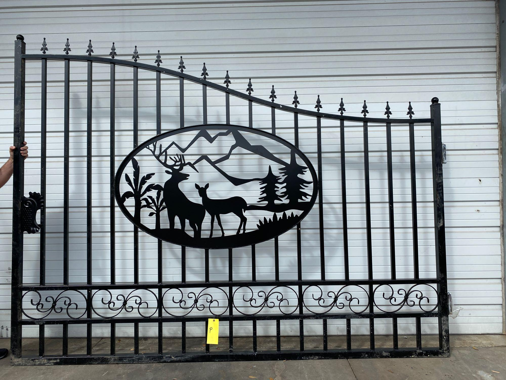 "NEW 20' BI-PARTING GATES, 10' EACH GATE, 90"" MAX HEIGHT - Image 2 of 5"