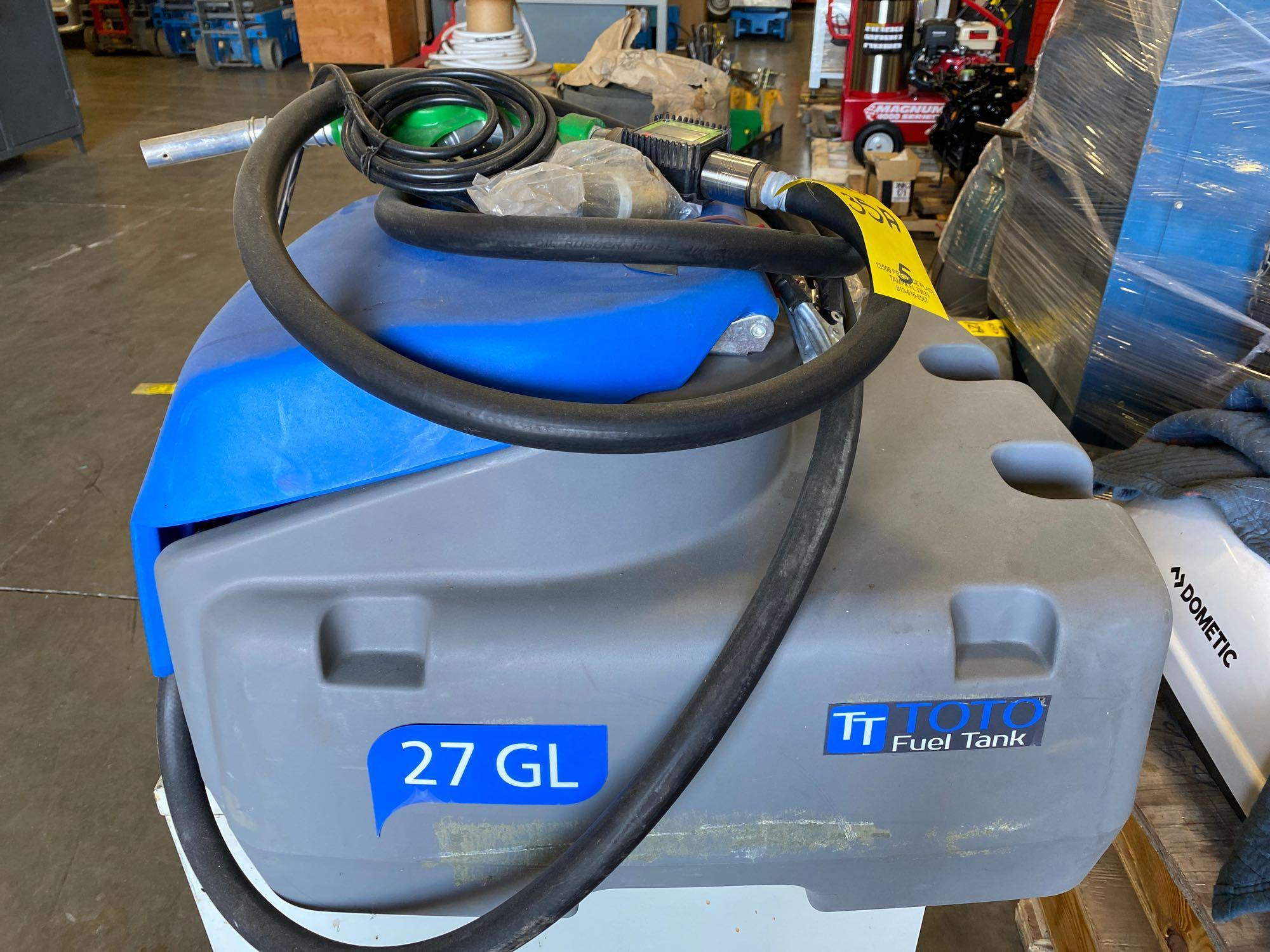 UNUSED TOTO 27 GALLON FUEL TANK WITH 12V PUMP - Image 4 of 6