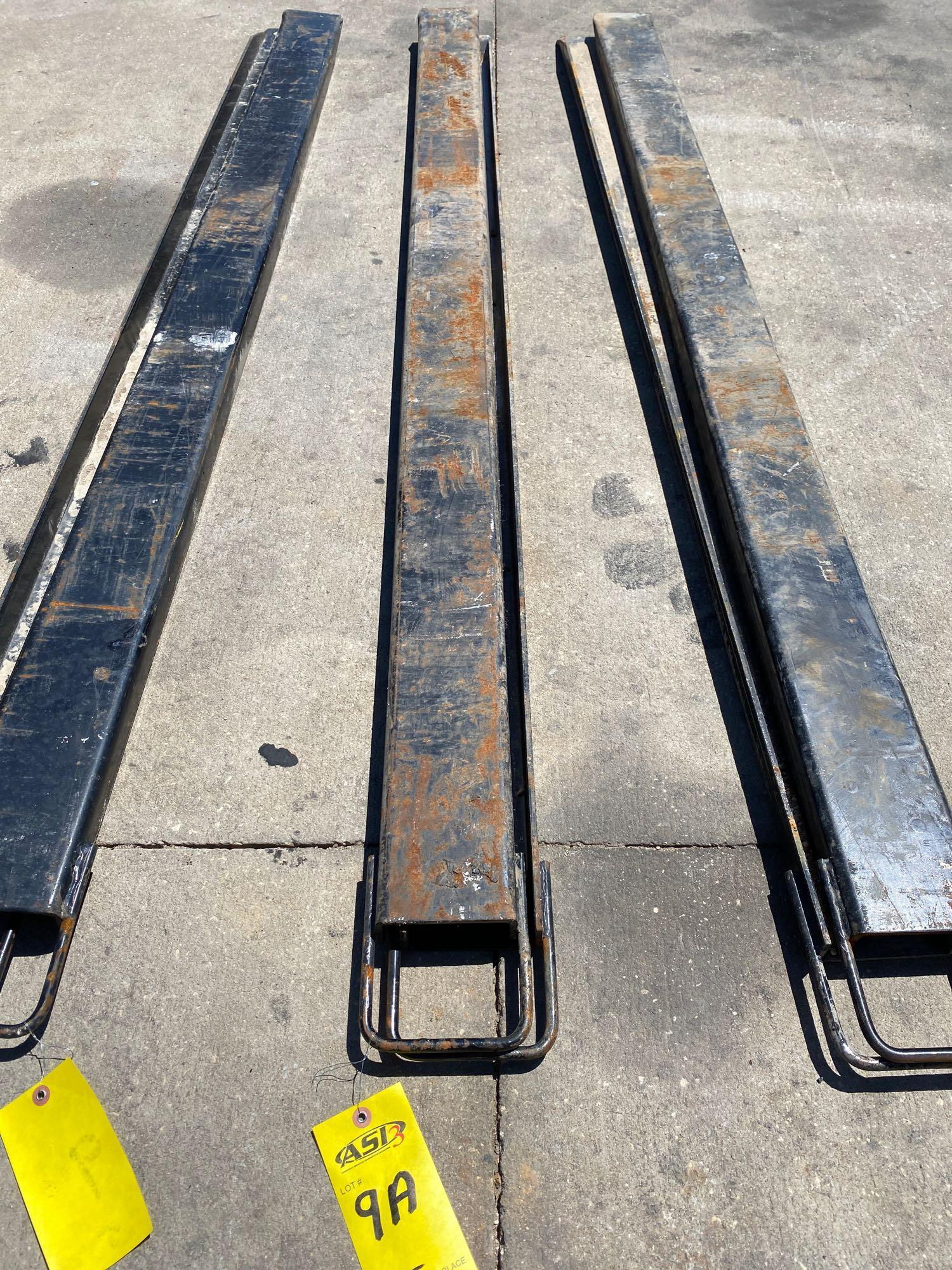PAIR OF 7' SLIDE ON FORK EXTENSIONS