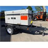 2012 WHISPERWATT MQ POWER DIESEL GENERATOR, TRAILER MOUNTED, 20KW, 25KVA, RUNS AND OPERATES