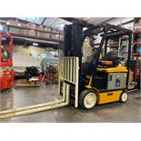"YALE ELECTRIC FORKLIFT MODEL ERCO50VGN36TE088, 36V, 200.8"" HEIGHT CAPACITY, APPROX. 5,000 LB CAPACIT"