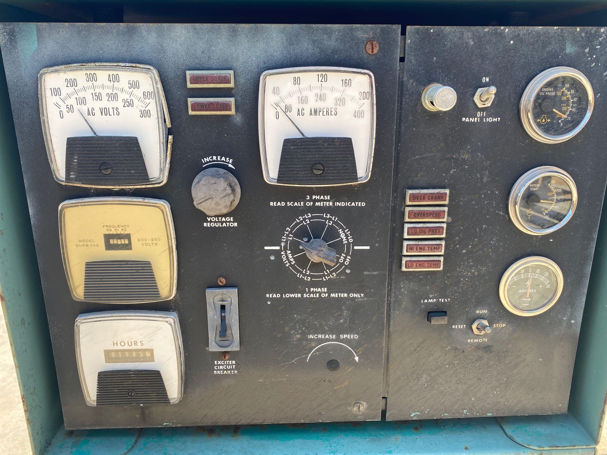 ONAN 90 DYC GENERATOR, 90 KW, 112KVA, 1085 HOURS SHOWING - Image 9 of 11