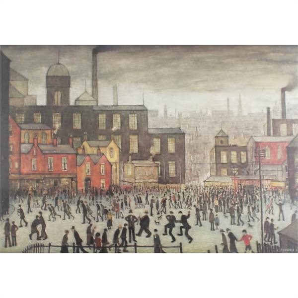 Lowry, Laurence Stephen 1887-1976 British AR Our Town. - Image 1