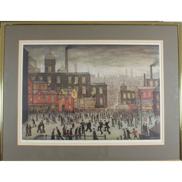 Lowry, Laurence Stephen 1887-1976 British AR Our Town. - Image 2