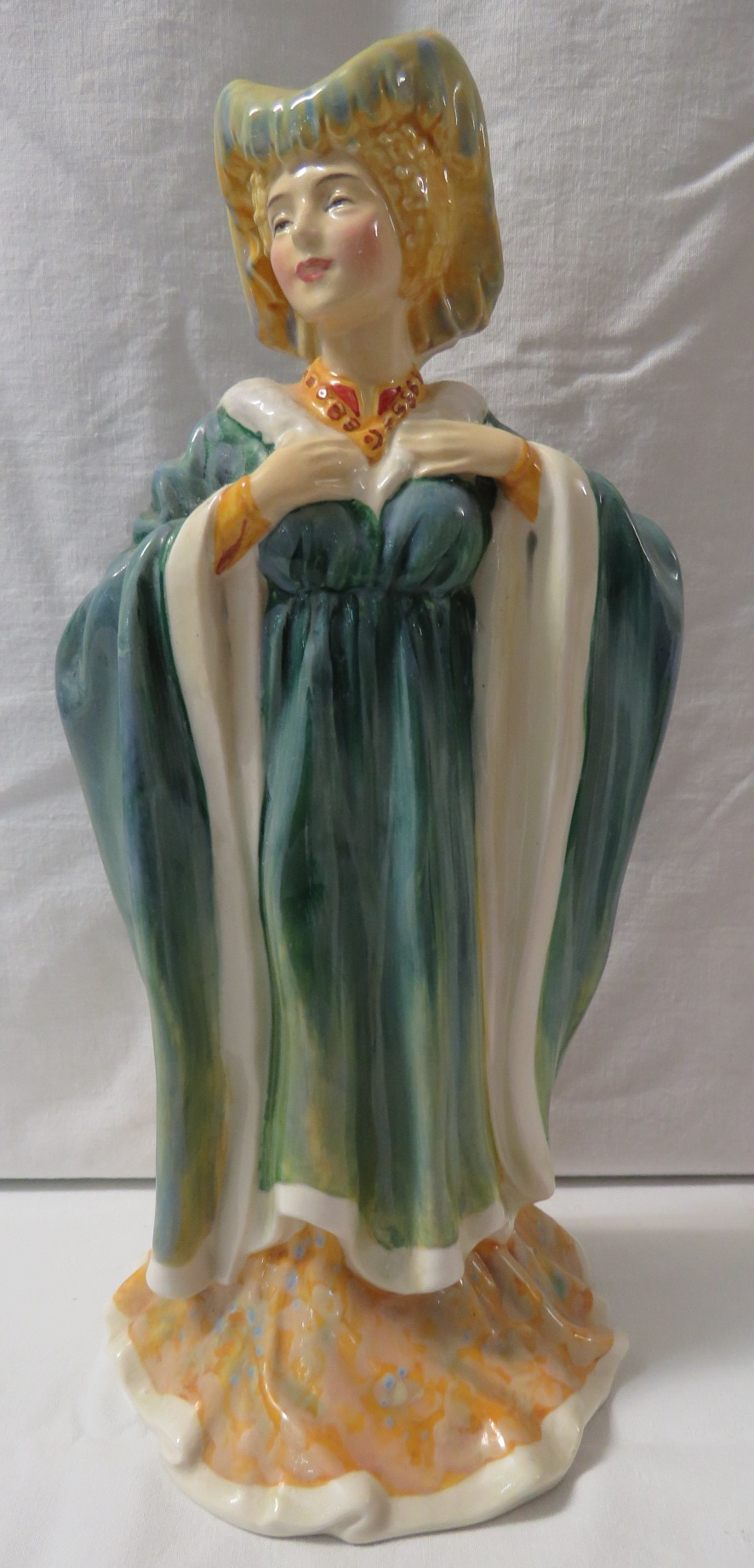 Lot 26 - Royal Doulton figure Margaret of Anjou 1430-1482 HN 2012, green factory transfer mark, various