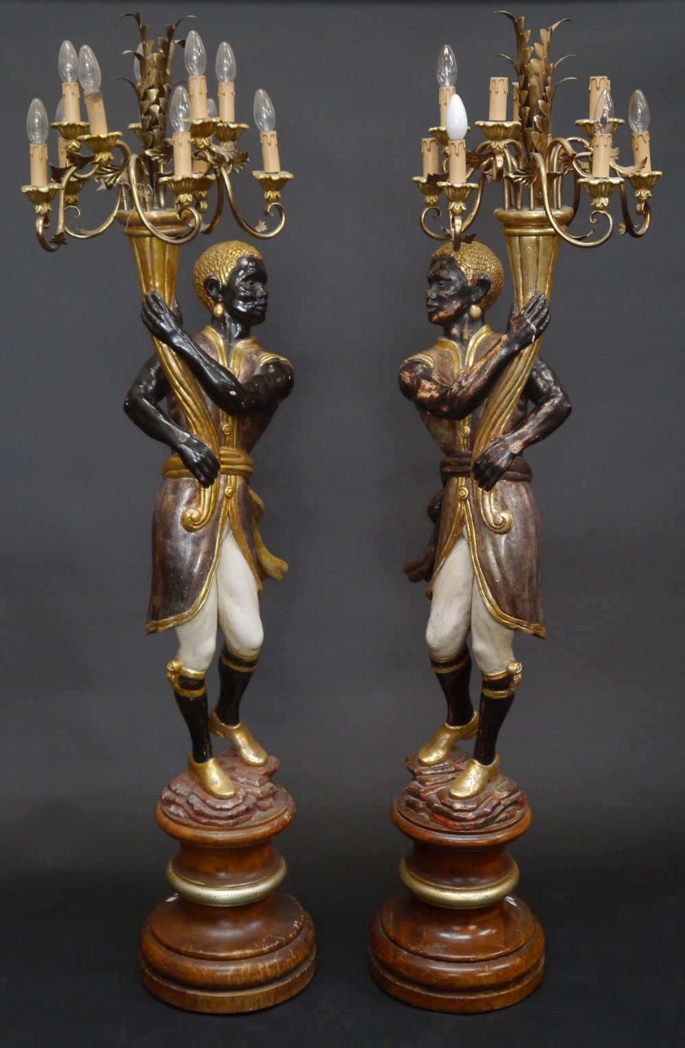 A Pair Of 18th Century Style Ten Light Floor Standing