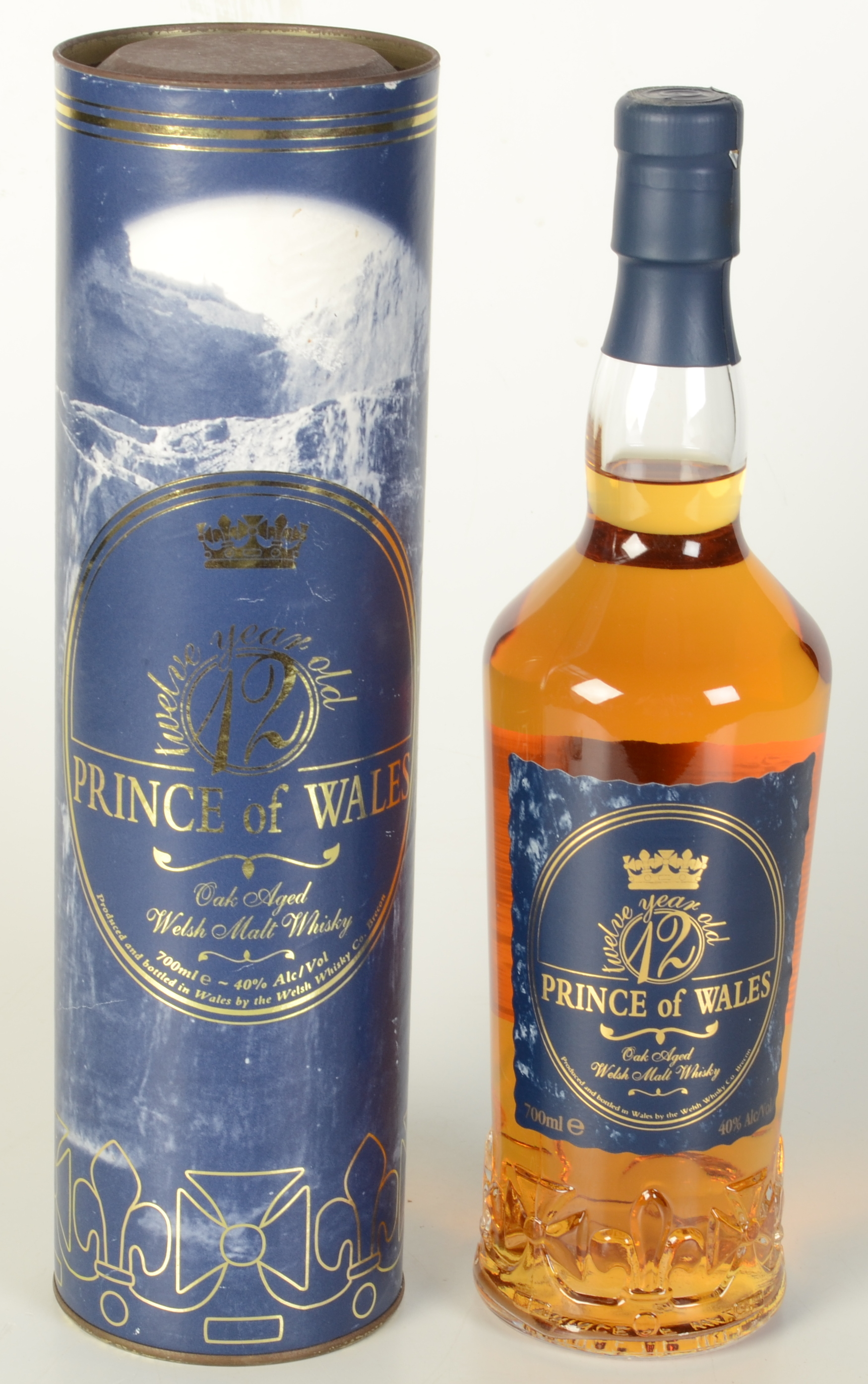 Lot 53 - A Prince of Wales 12 year old, oak aged Welsh malt whiskey,