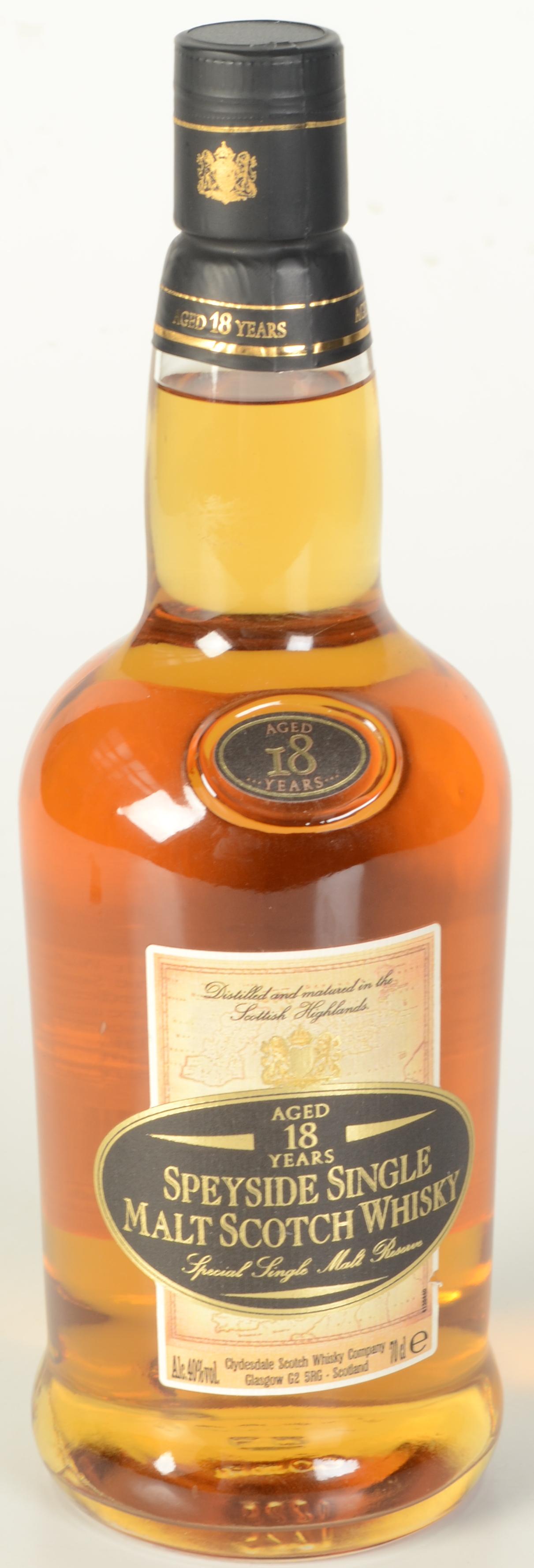Lot 56 - A Speyside 18 year old single malt Scotch whisky, 70cl, 40% vol.