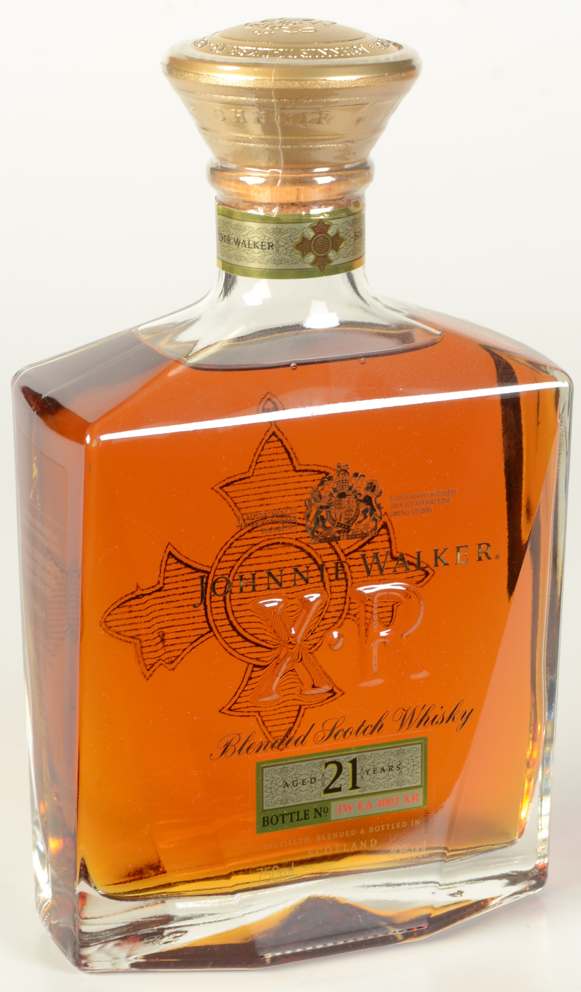 Lot 52 - A Johnnie Walker 21 year old XR blended Scotch Whisky, bottle no.