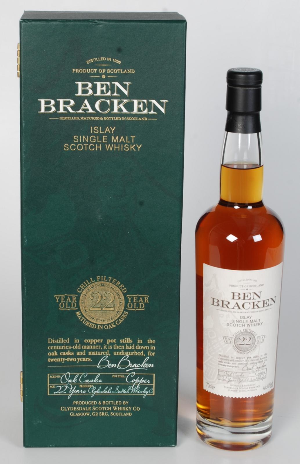 Lot 54 - A Ben Bracken Islay 22 year old single malt Scotch whisky, 70cl, 40% vol.