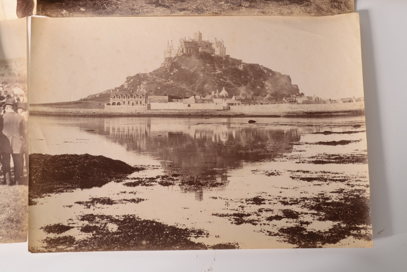 Lot 28 - Albumen photographs by Gibson of Scilly and Penzance: A collection of approximately 100 images,