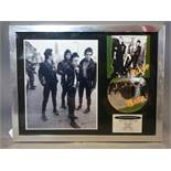 A limited edition framed CD by the clash for the 25th anniversary of their album the clash, numbered