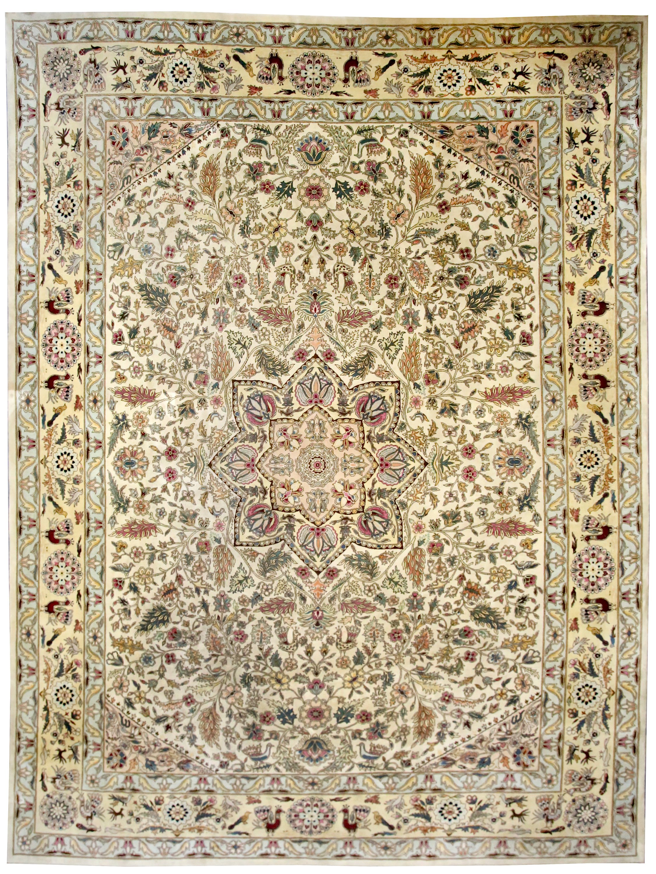 A FINE TABRIZ CARPET, NORTH-WEST PERSIA approx:13ft 6in  x