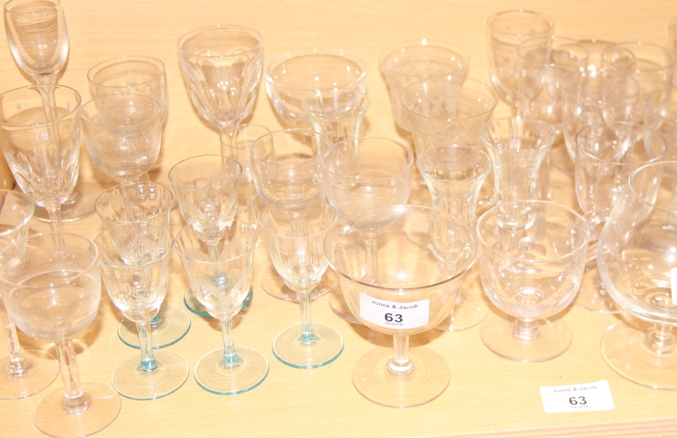 Lot 56 - A collection of cut and other table glass, various