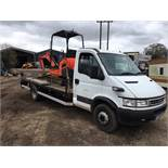 2006/55 REG IVECO DAILY 60C17 3.0 DIESEL WHITE 6.5T BEAVER-TAIL RECOVERY, SHOWING 0 FORMER KEEPERS