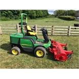 2006 JOHN DEERE 1445 4WD RIDE ON LAWN MOWER, C/W TRIMAX FLAIL, CLEAN TIDY MOWER, READY FOR WORK!