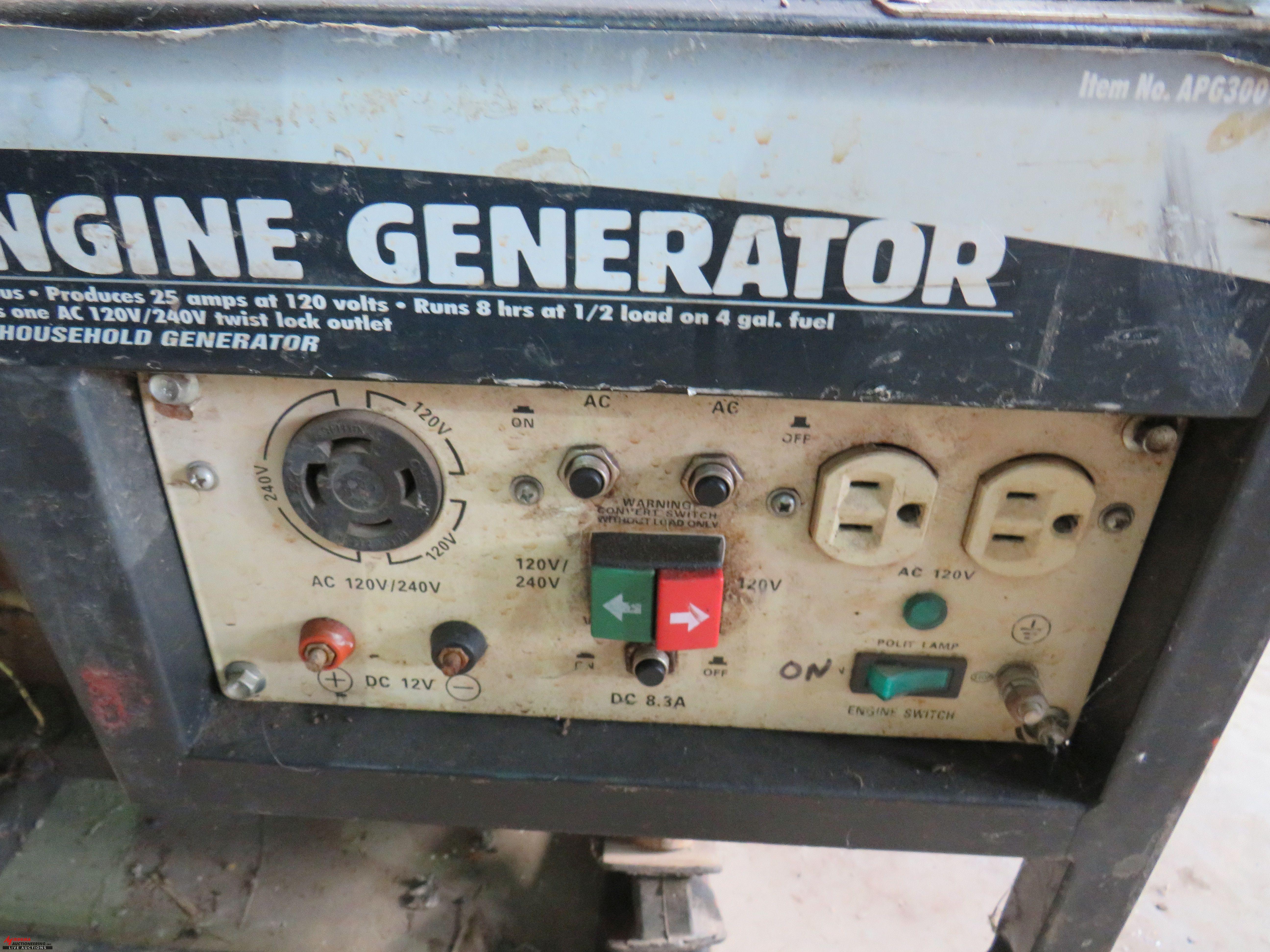 Lot 4 - ALL POWER 3500 WATT GENERATOR