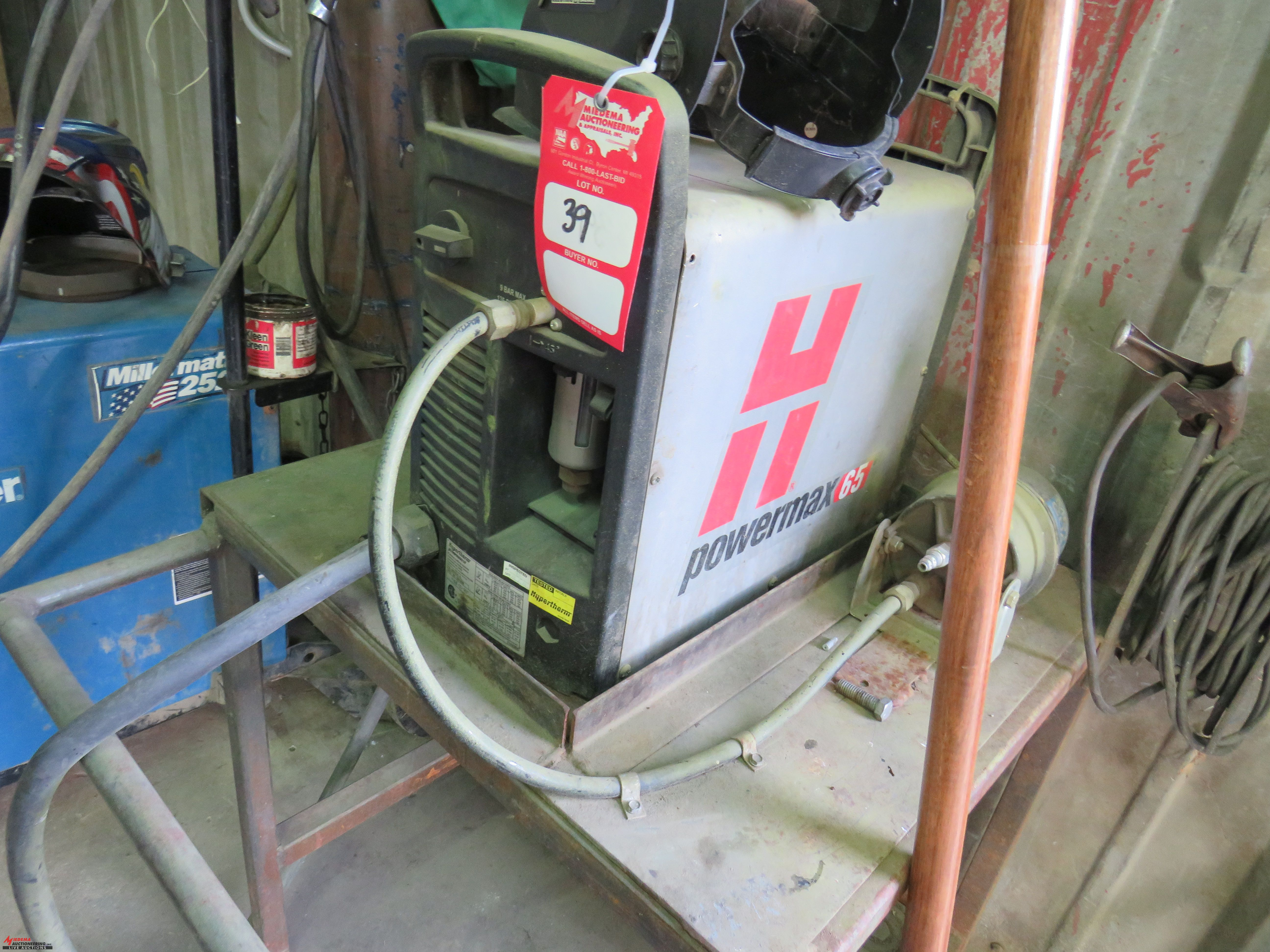 Lot 39 - HYPERTHERM POWERMAX 65 PLASMA CUTTER, WITH METAL STAND