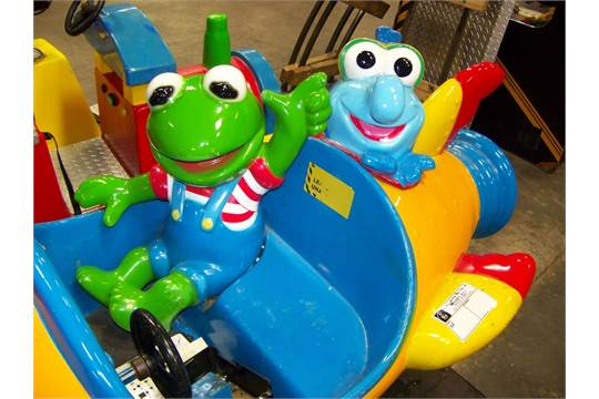 kiddie ride gonzo amp kermit muppets rocket ride item is in used
