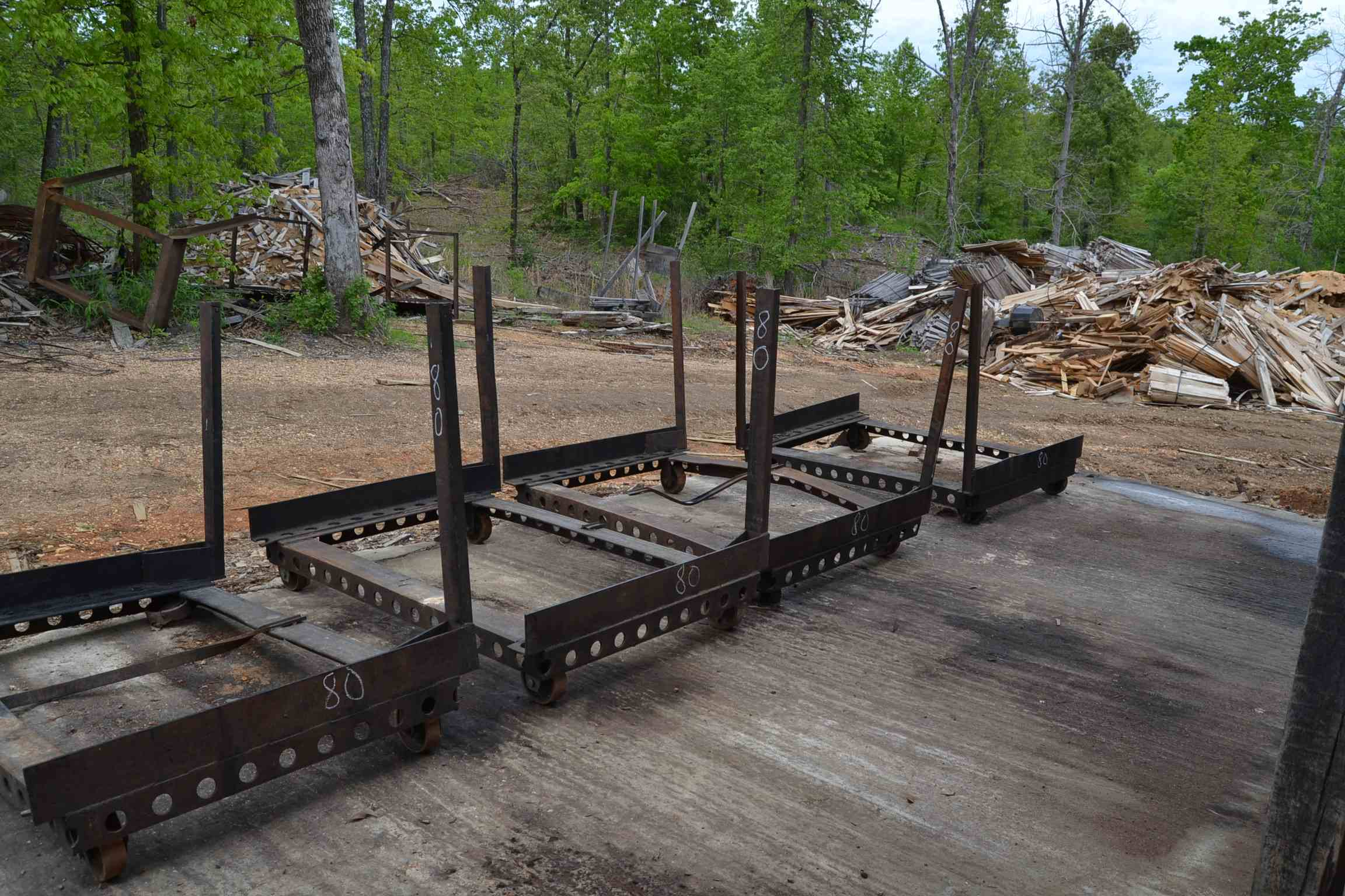 Lot 80 - (4) LUMBER CARTS