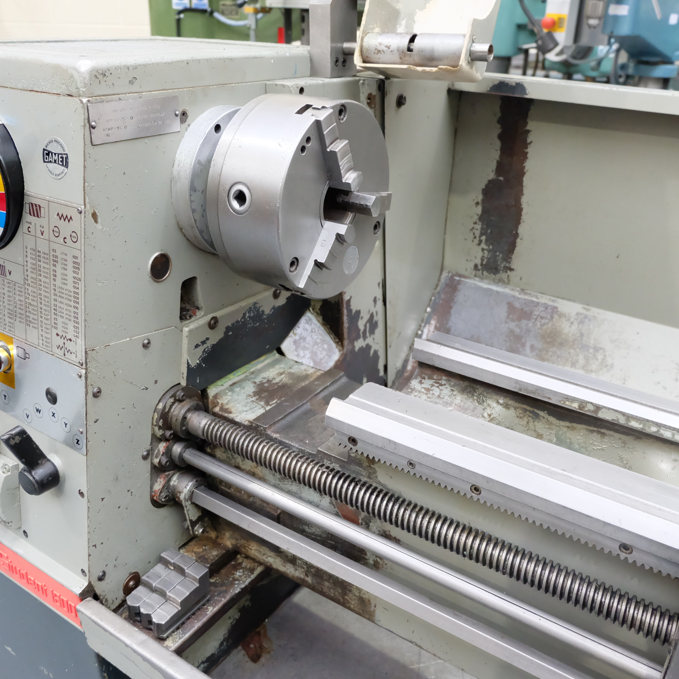 Colchester Student Gap Bed Centre Lathe. - Image 4 of 7