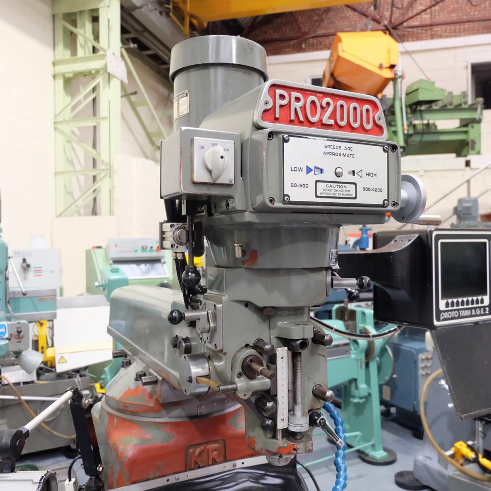 KRV Pro 2000: Turret Milling Machine. - Image 3 of 11