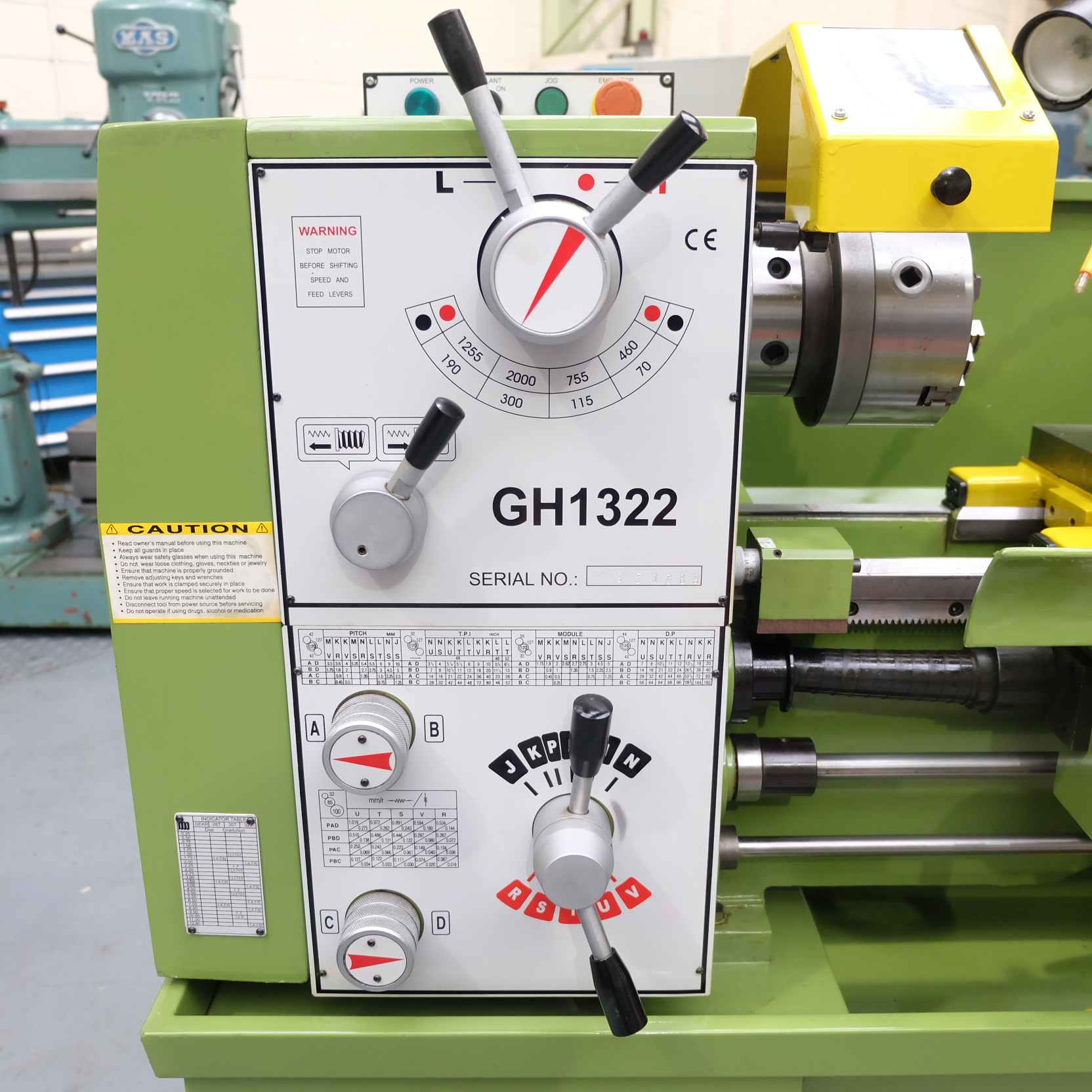 Warco Model GH 1322: Gap Bed Centre Lathe. - Image 2 of 10