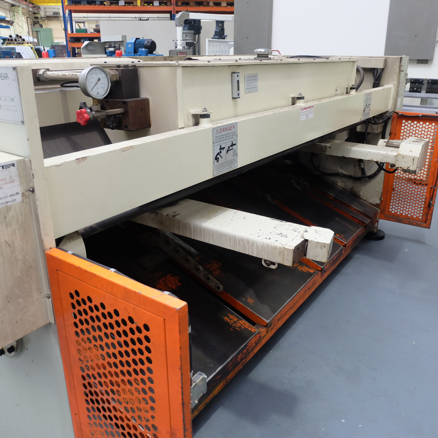 Carter Model QC12K-6x3200: Hydraulic Power Guillotine. - Image 6 of 9
