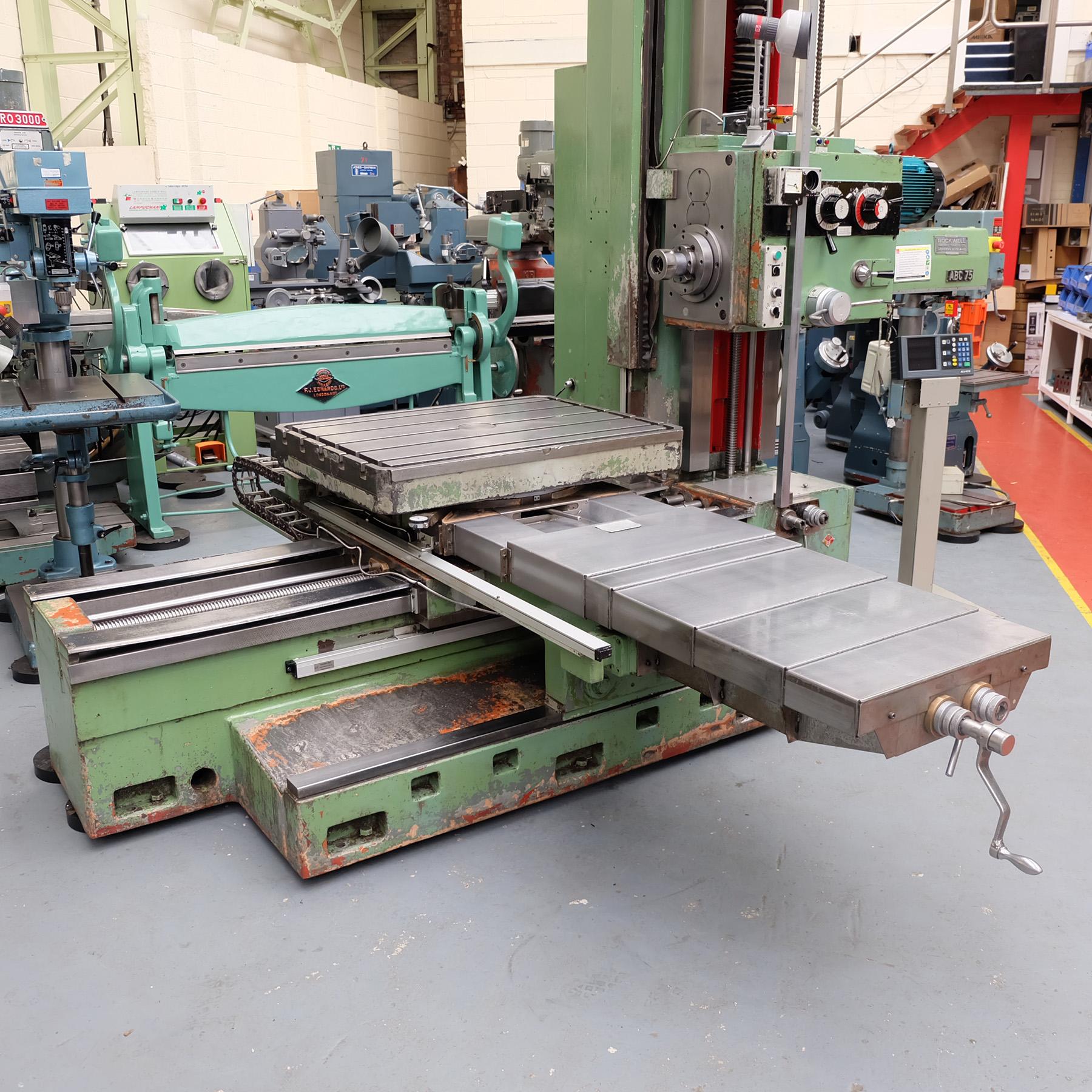 Ceruti Model ABC 75 Horizontal Boring & Milling Machine. With Tooling. - Image 3 of 15