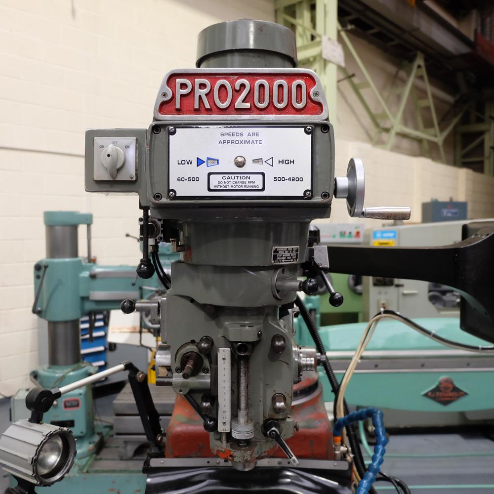 KRV Pro 2000: Turret Milling Machine. - Image 2 of 11