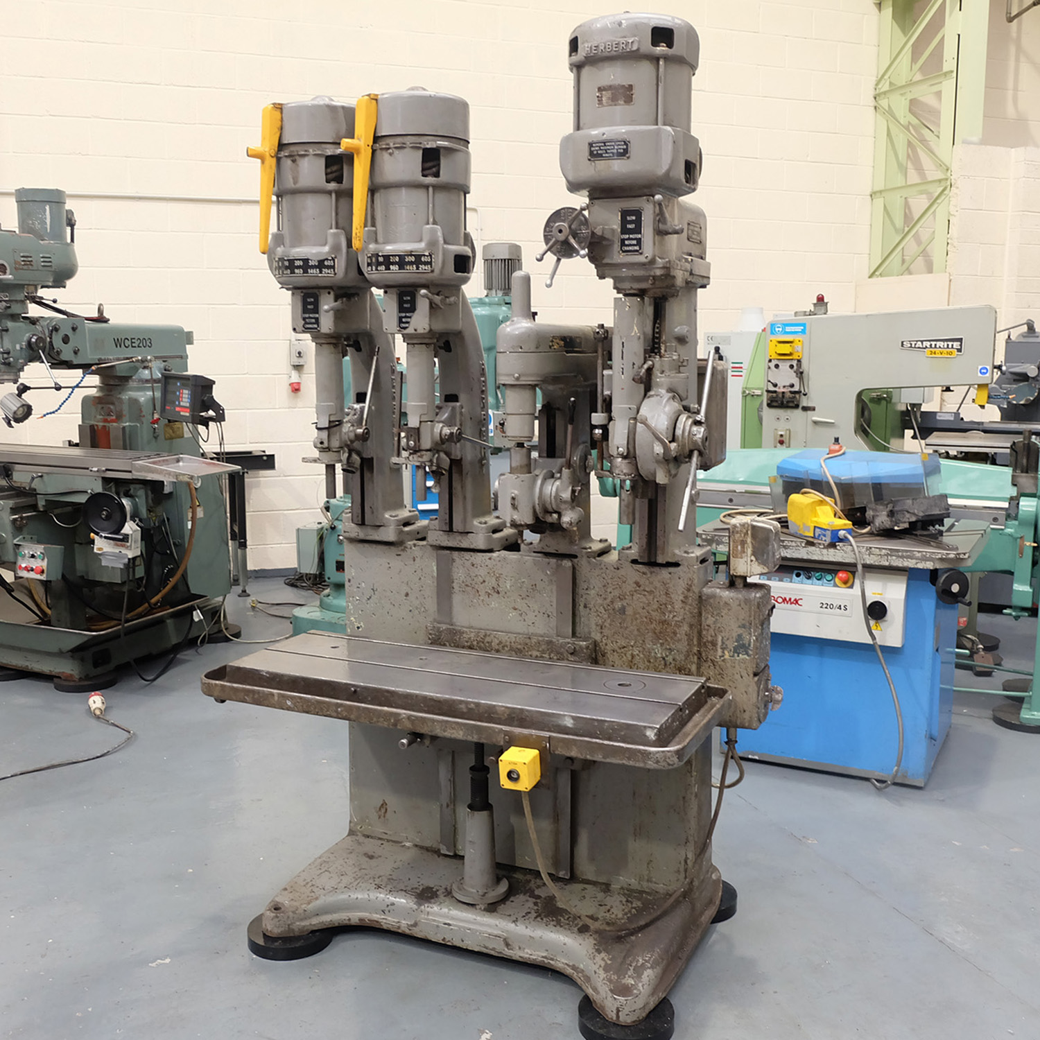 Herbert 4 Spindle In Line Drill. Table Size 46'' x 15 1/2''. - Image 2 of 10