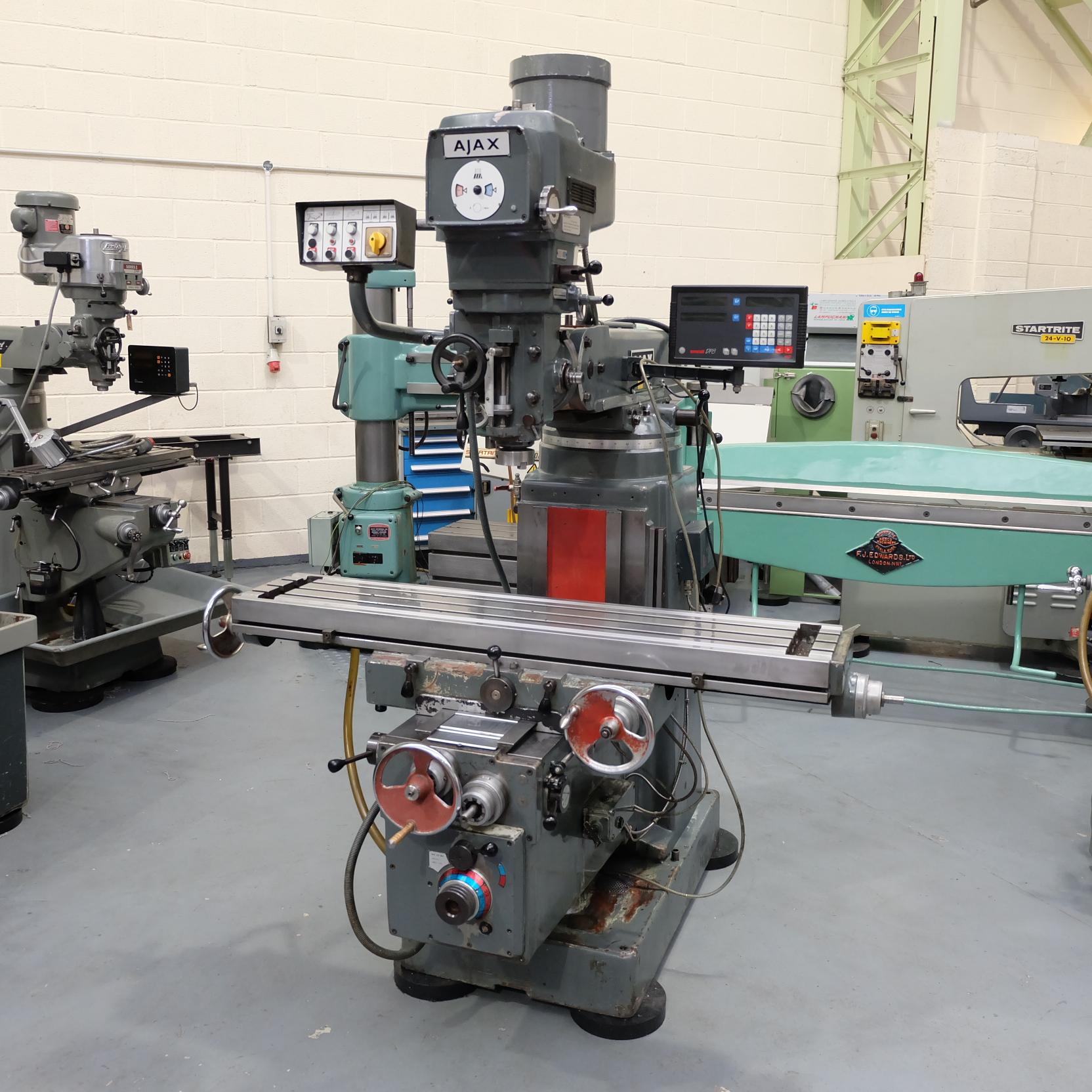 Ajax Model AJT4 Turret Milling Machine.