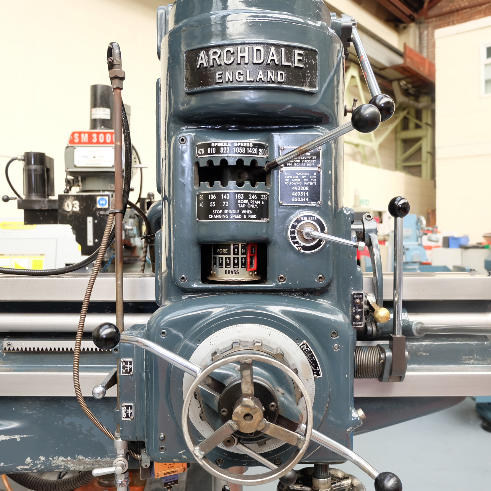 """Archdale: 3'6"""" Radial Arm Drill. Spindle Speeds 40-2000rpm. - Image 3 of 8"""