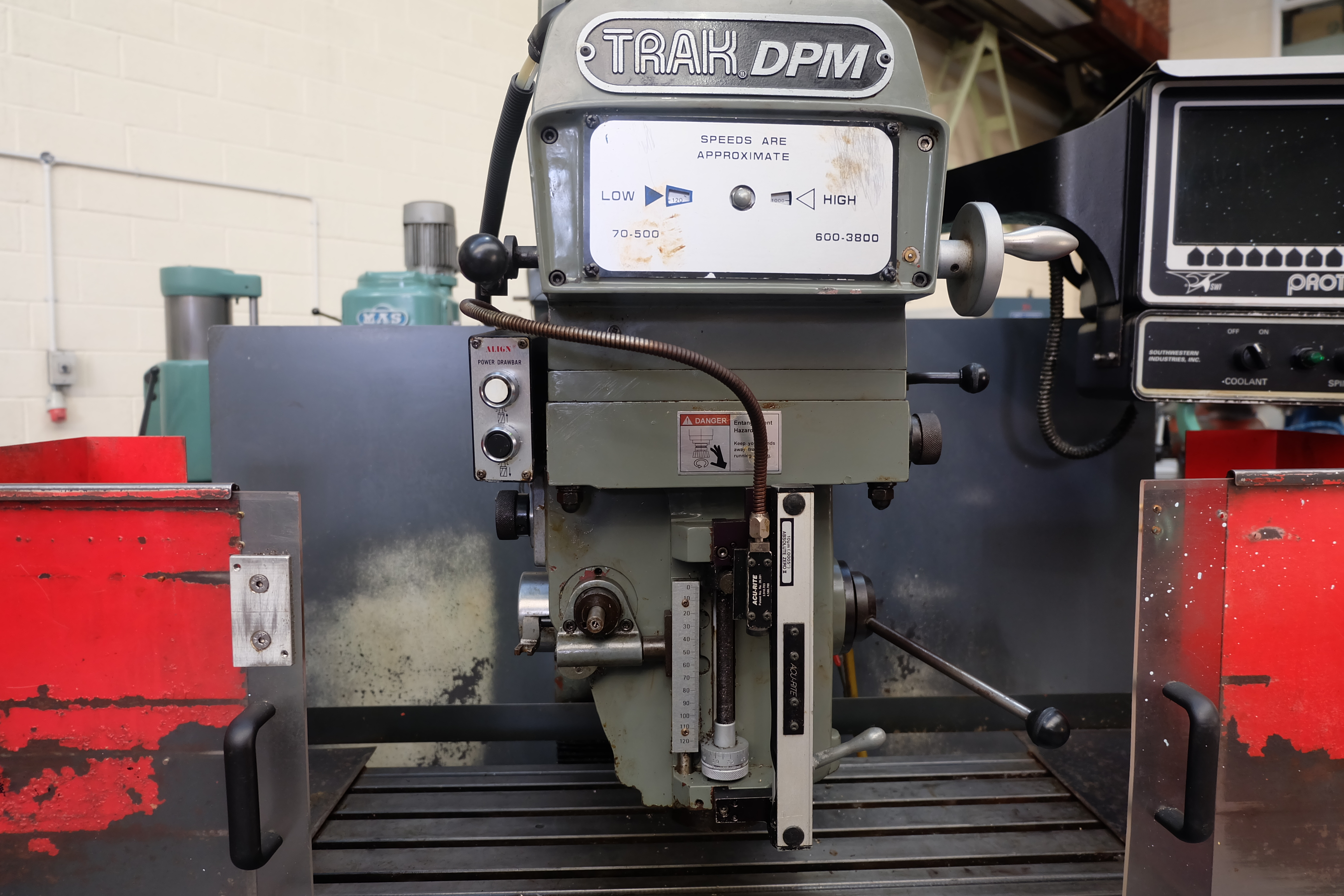 "2 x XYZ Type DPM Milling Machines Table 42"" x 12 1/2"". Prototrak MX3 Control. For Spares or Repair. - Image 12 of 21"