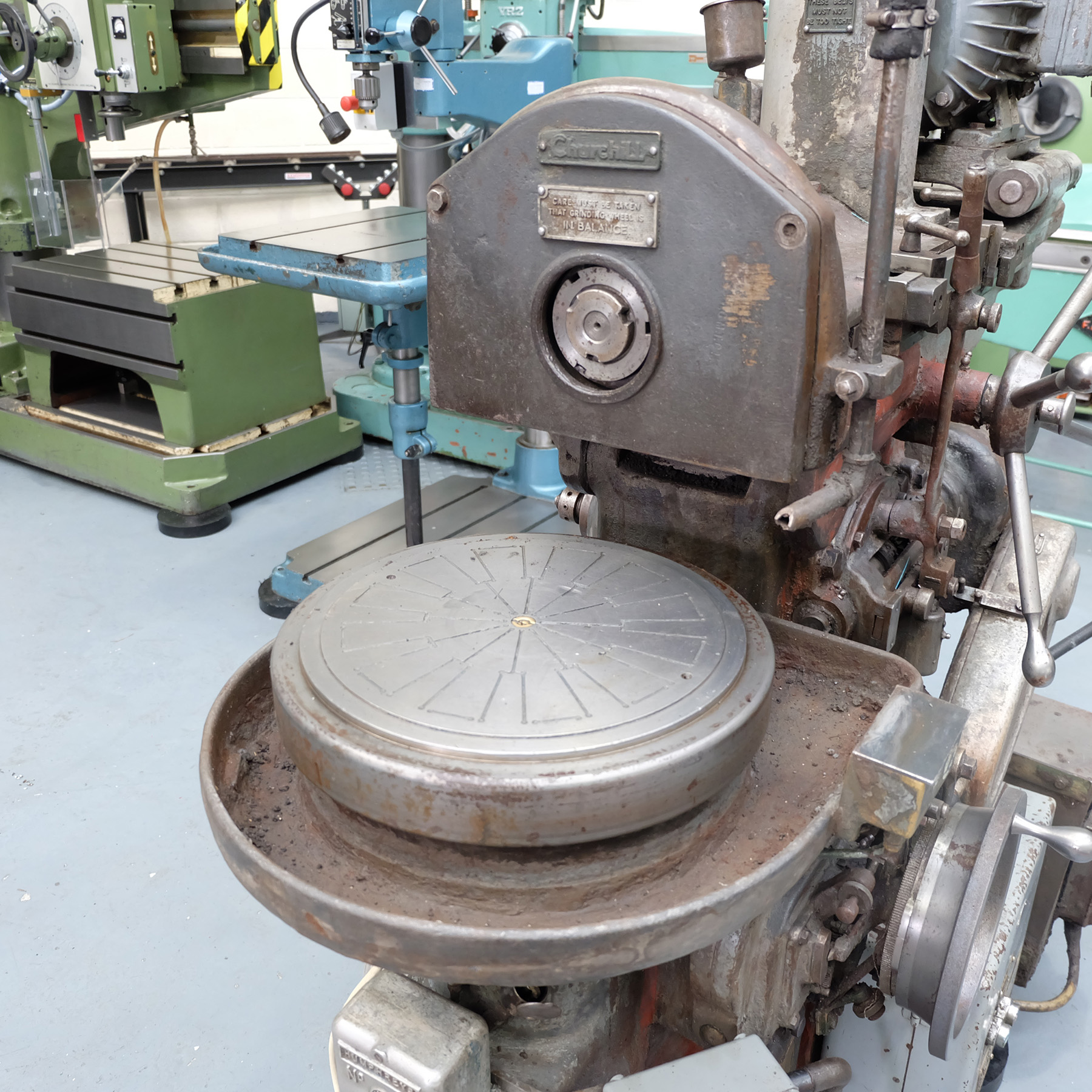"""Churchill Horizontal Spindle Tool Room Ring Grinding Machine. 12"""" Rotary Magnetic Table. - Image 4 of 5"""