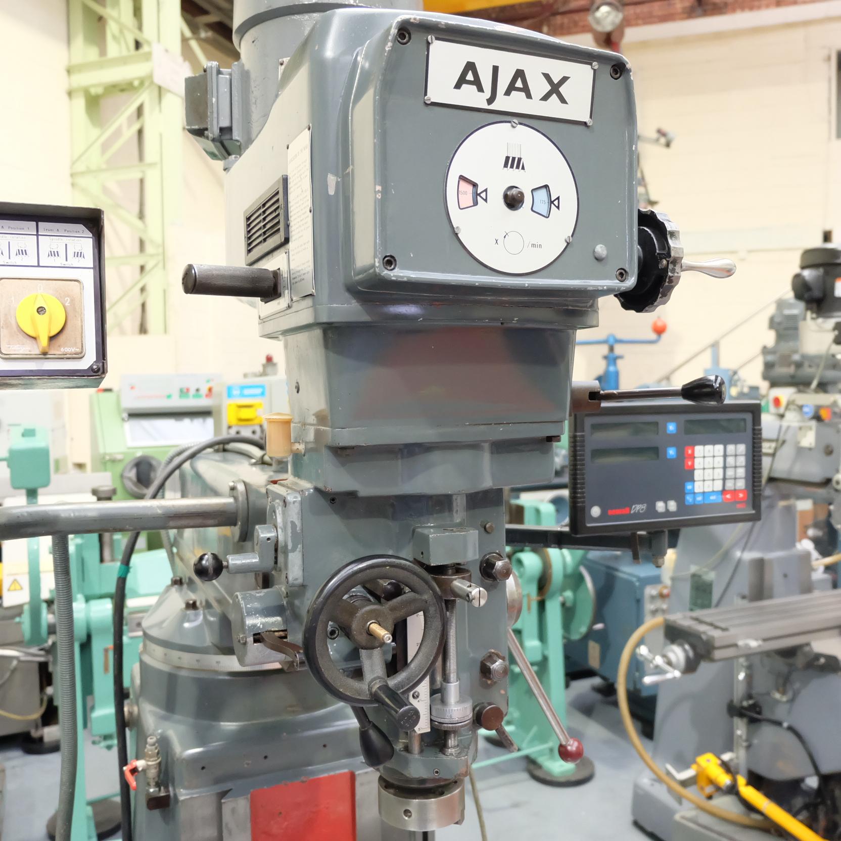 Ajax Model AJT4 Turret Milling Machine. - Image 3 of 9