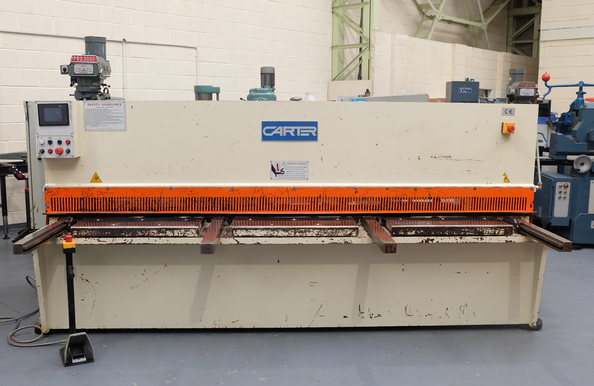 Carter Model QC12K-6x3200: Hydraulic Power Guillotine. - Image 2 of 9
