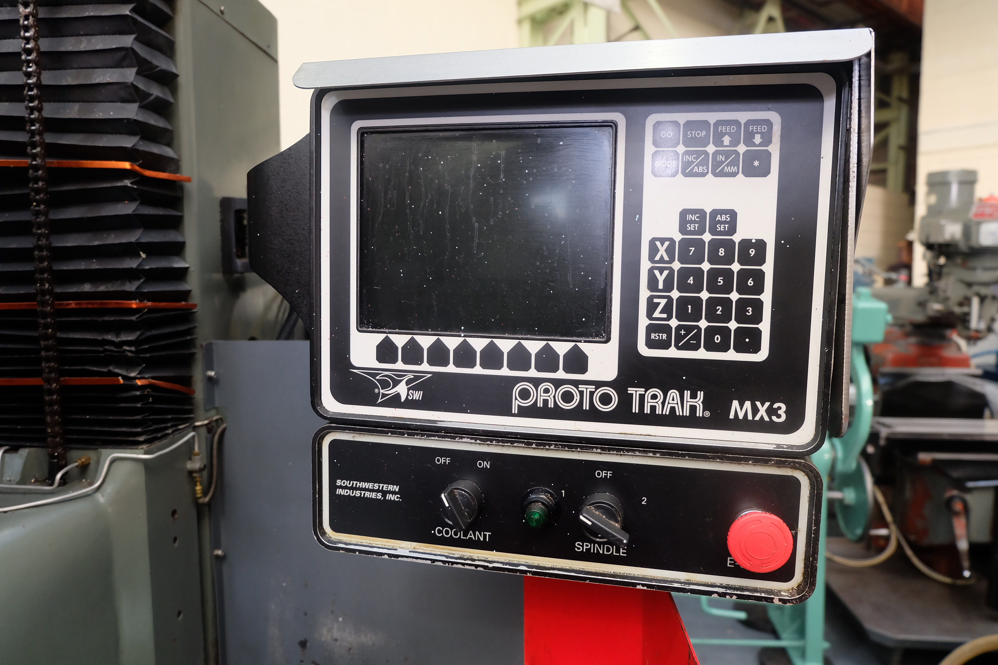 "2 x XYZ Type DPM Milling Machines Table 42"" x 12 1/2"". Prototrak MX3 Control. For Spares or Repair. - Image 15 of 21"