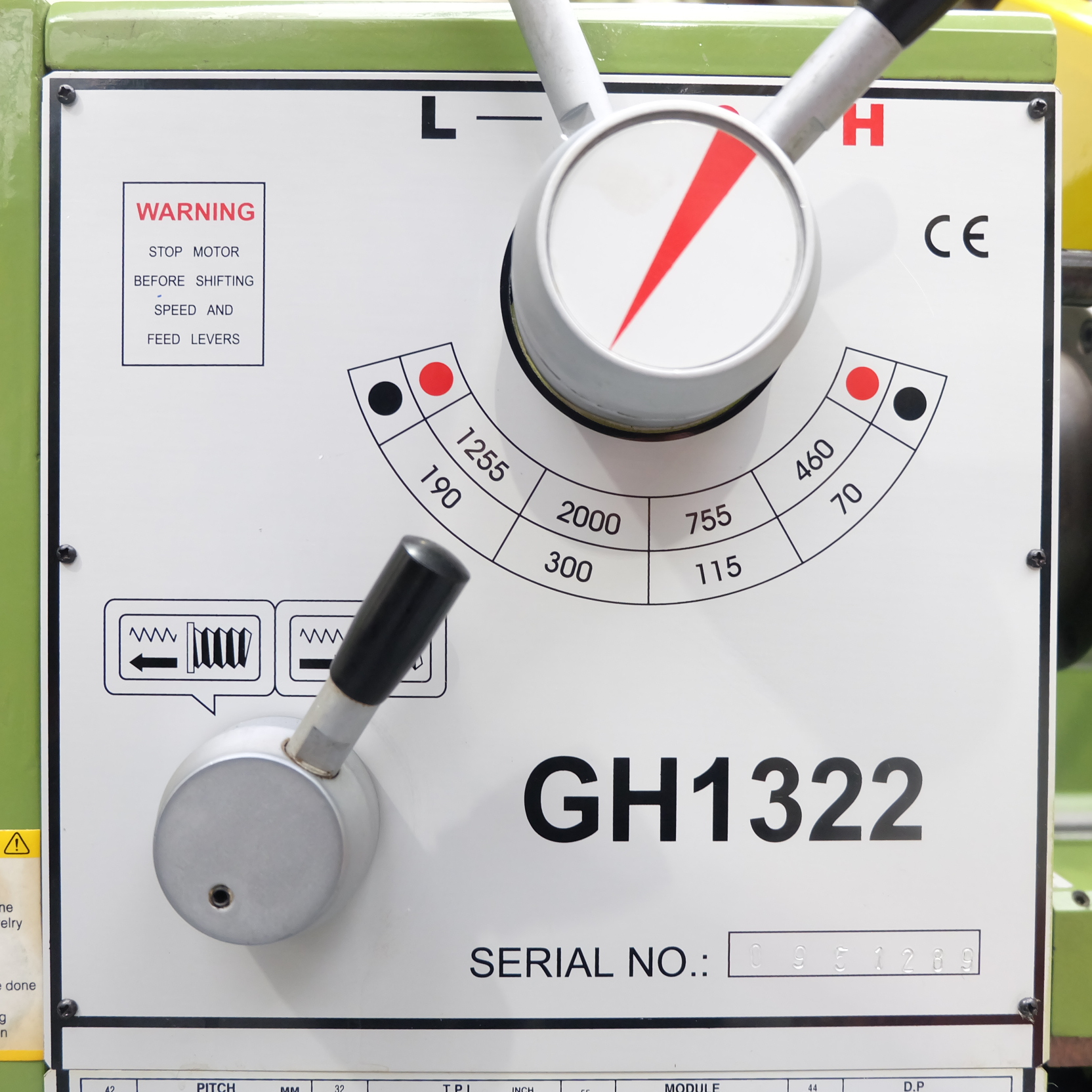Warco Model GH 1322: Gap Bed Centre Lathe. - Image 7 of 10