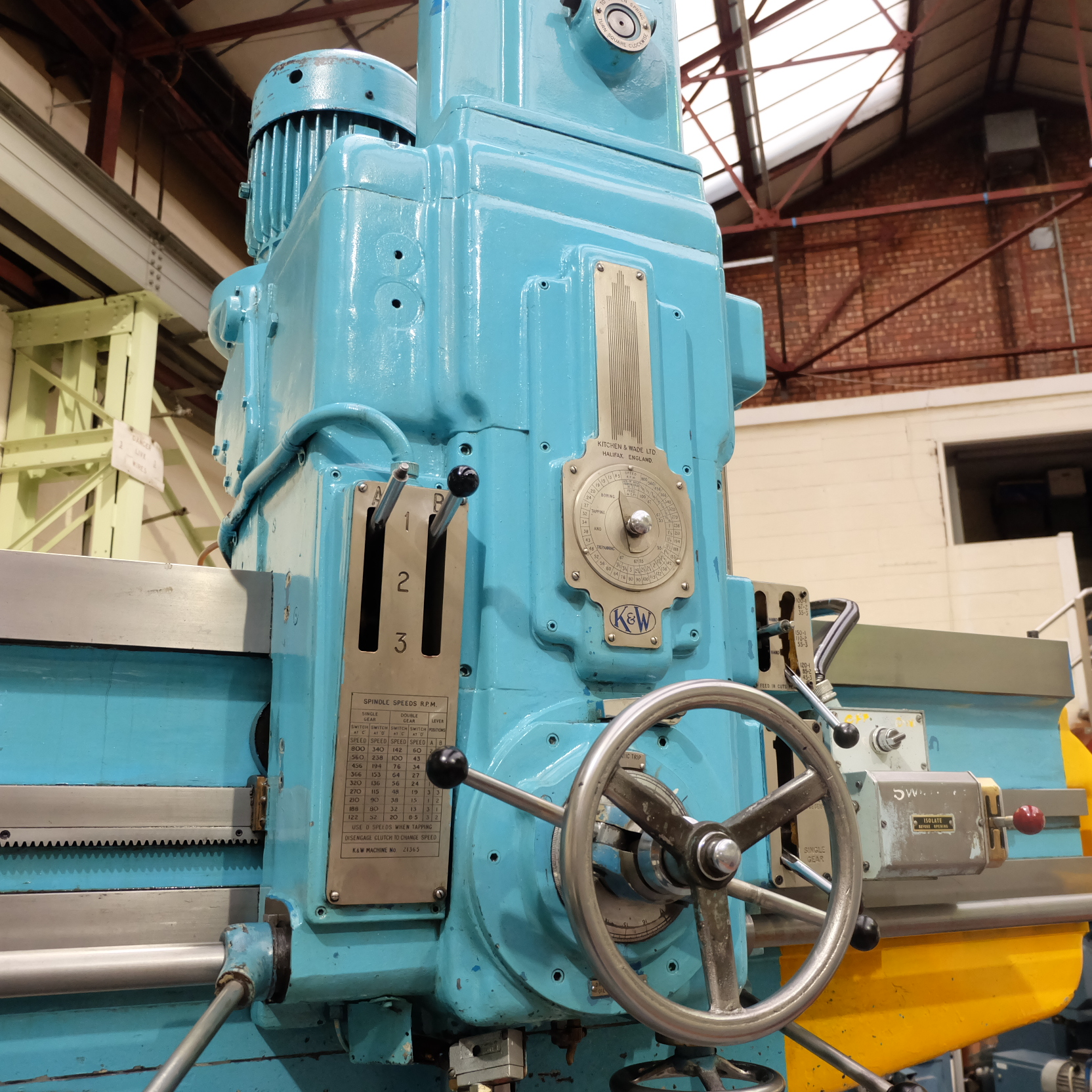 "Kitchen & Wade Type E27 6' Radial Arm Drill. Arm Radius 72"". - Image 3 of 10"