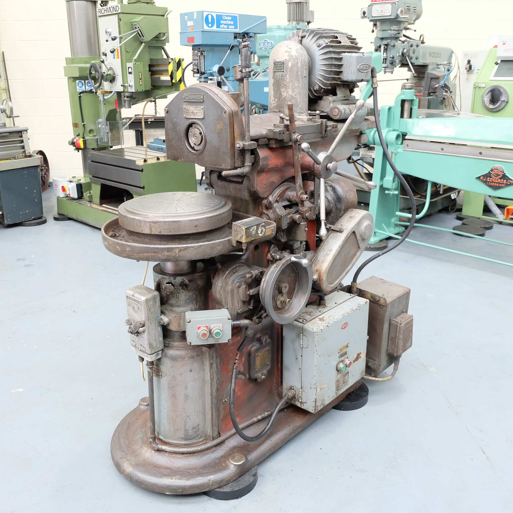 """Churchill Horizontal Spindle Tool Room Ring Grinding Machine. 12"""" Rotary Magnetic Table."""