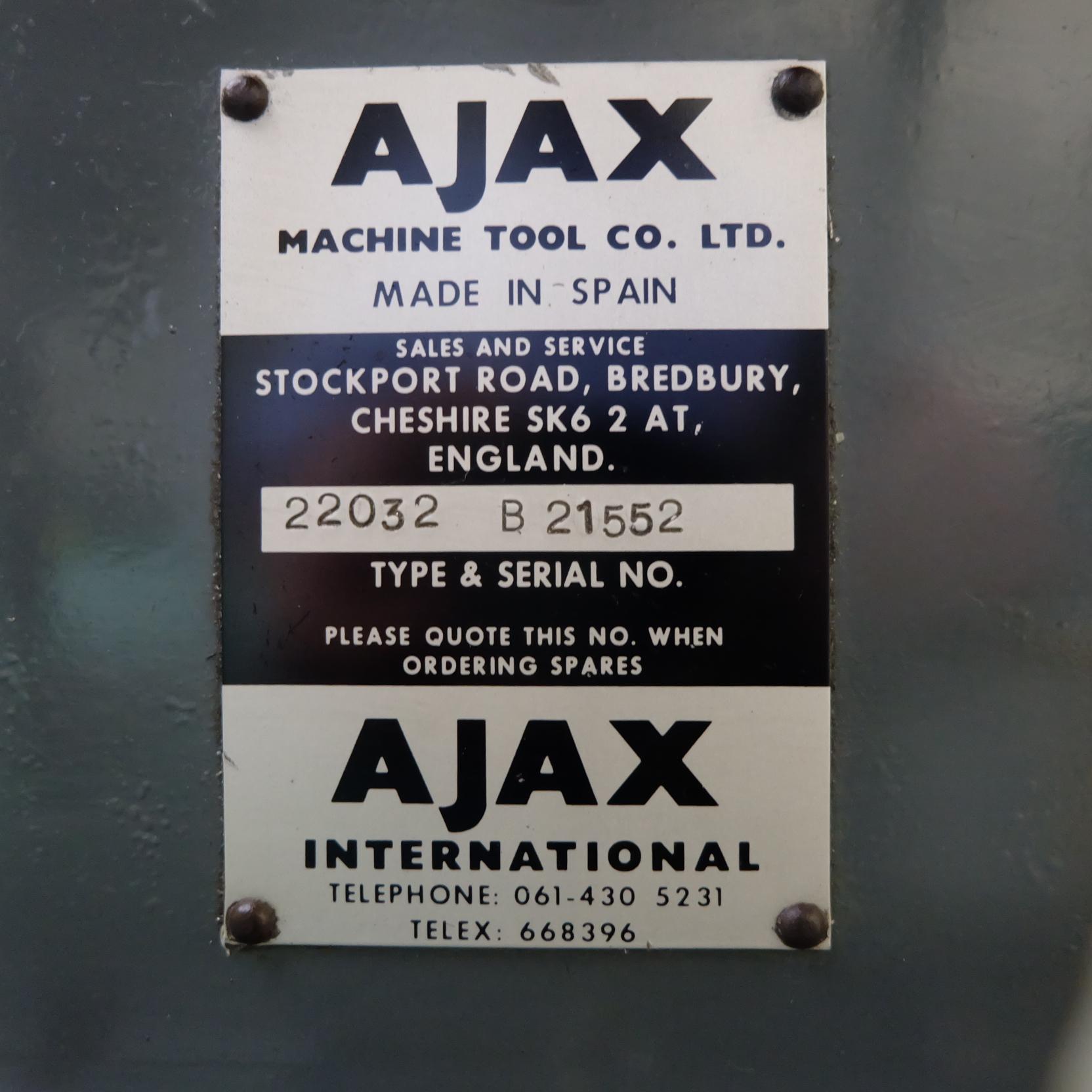 Ajax Model AJT4 Turret Milling Machine. - Image 8 of 9