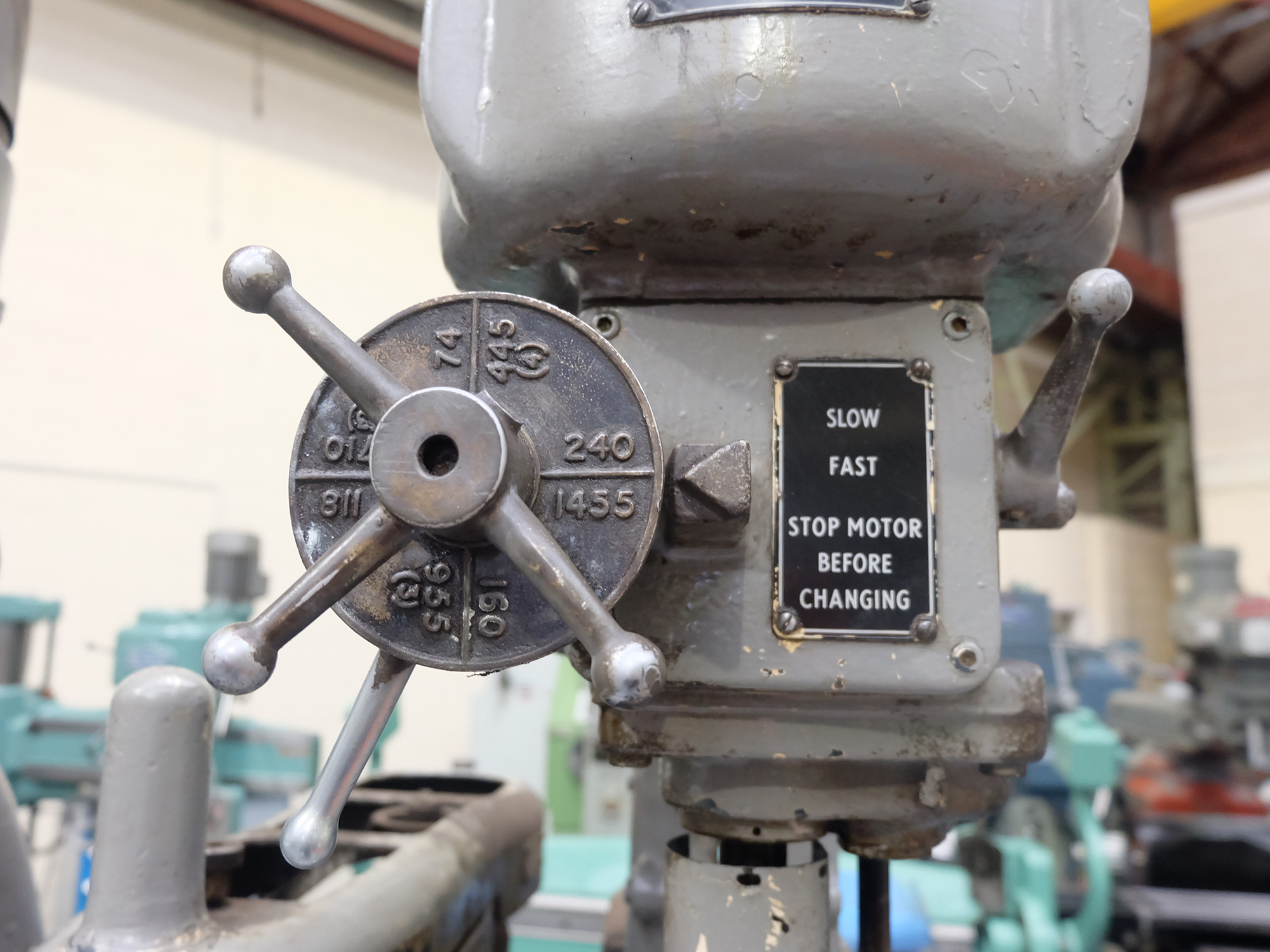 Herbert 4 Spindle In Line Drill. Table Size 46'' x 15 1/2''. - Image 5 of 10