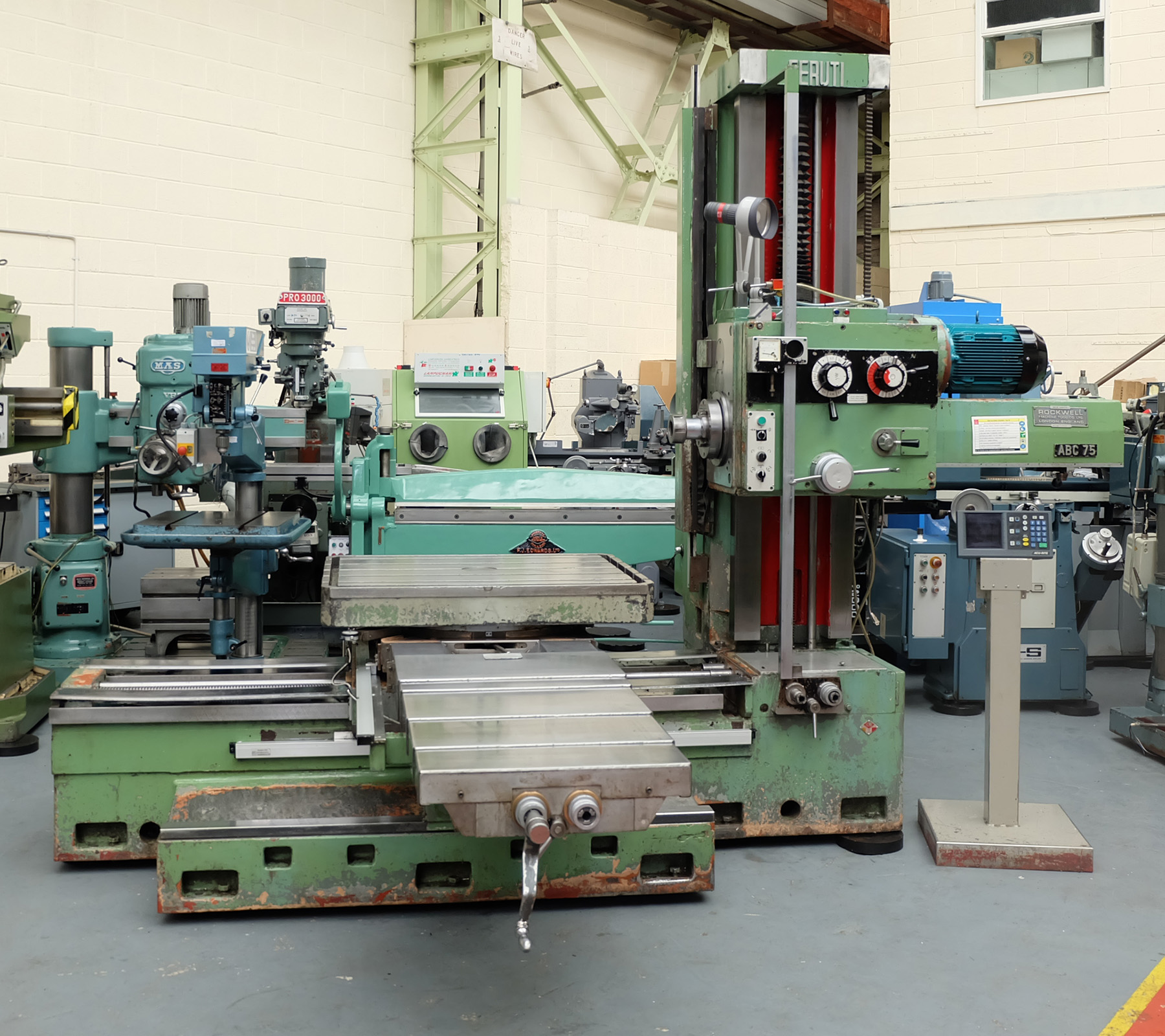 Ceruti Model ABC 75 Horizontal Boring & Milling Machine. With Tooling.