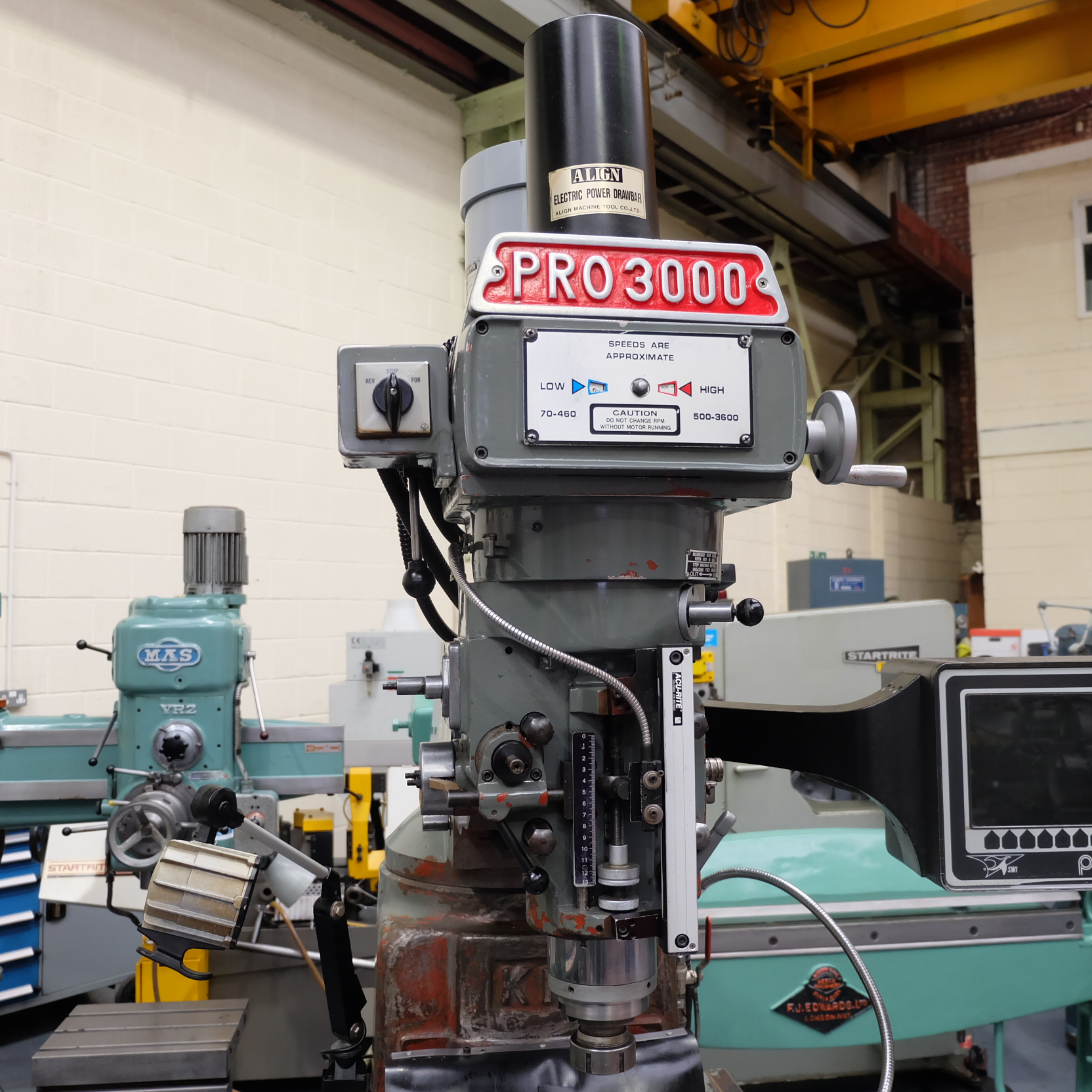 XYZ Pro3000: Turret Mill. With Prototrak MX2 Two Axis Programmable Control. - Image 2 of 10