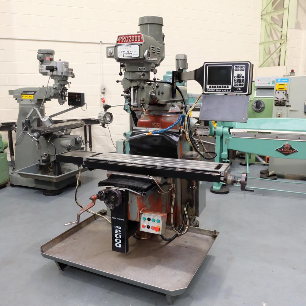 KRV Pro 2000: Turret Milling Machine.